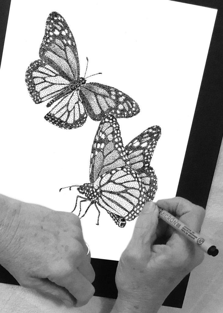 Butterfly Stippling